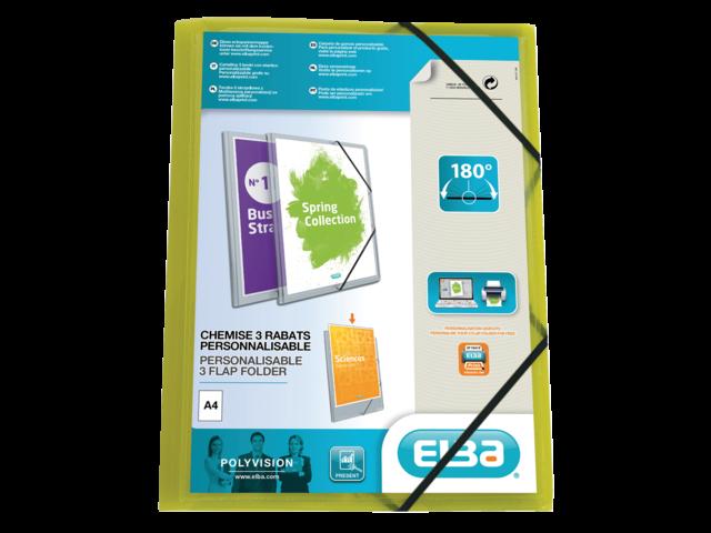Elastomap elba a4 polyvision inclusief insteektas groen