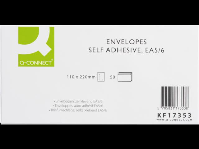 Envelop q-connect bank ea5/6 110x220 80gr zelfklevend wit