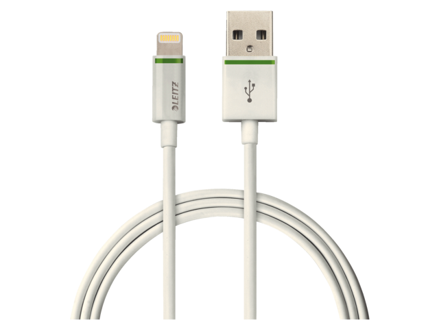 KABEL LEITZ COMPLETE LIGHTNING-USB XL 2M WIT