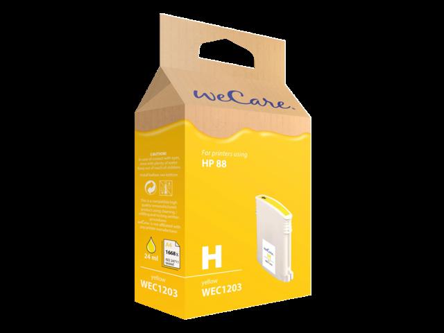 Inkcartridge wecare hp c9393ae 88xl geel hc