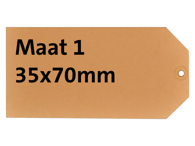 LABEL HF2 NR1 35X70MM KARTON 200GR CHAMOIS