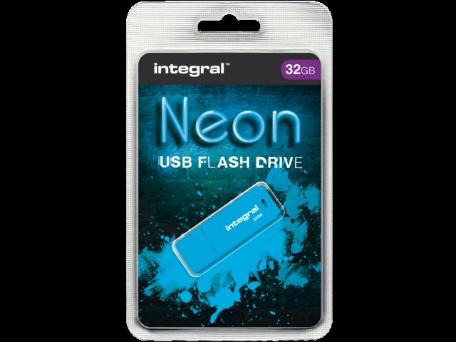 USB-STICK INTEGRAL FD 32GB NEON BLAUW