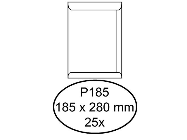 Envelop hermes akte p185 185x280mm zelfklevend wit 25stuks