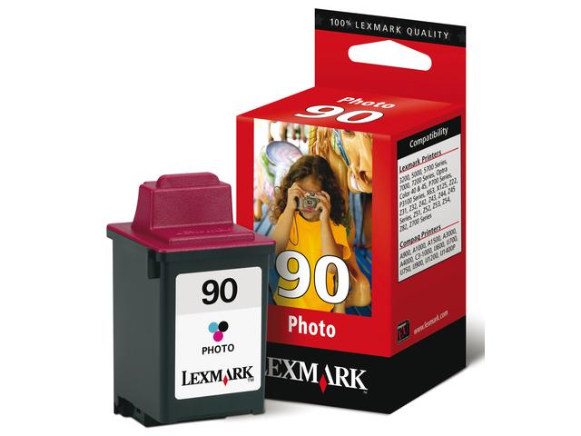 Inkcartridge lexmark 12a1990e 90 kleur