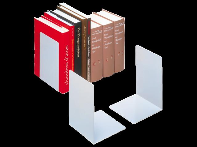 Boekensteun durable 3244-23 gesloten zwaar zilvergrijs