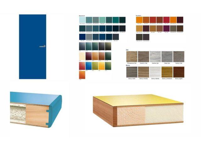 Hpl deuren beplakt met een hard plastic toplaag in iedere gewenste kleur houwelingen - Kleur binnendeuren ...