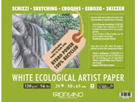WHITE ECOLOGICAL ROL 1,5X10MTR 200GR TEKENPAPIER ZUURVRIJ