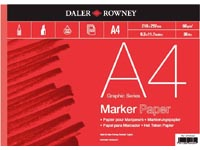 DALER ROWNEY MARKERBLOK A4 (RODE KAFT)