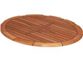 Teak Tabletop Ellips