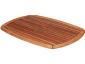 Teak Tabletop Half Ellips