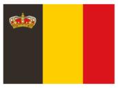 Flagge Belgien Mit Krone