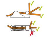 Cleats met open zij-ingang voor 3-6mm lijn