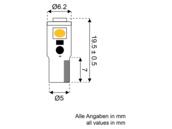 Led T5Wedge Instrumenten-lampe 10-30V