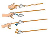 Open cleats voor 1-6mm lijn