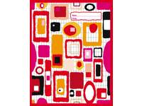 Cahiers 3000 serie comm. 4x7 mm, rood FSC formaat 16,5x21 cm, 80 grs