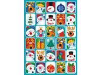 Beloningsstickers Kerst 55 36 motieven, 720 stickers