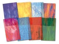 Glas in lood papier 24 vel in 8 soorten