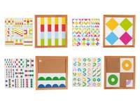 Geometrische vormenlotto's set van 4 stuks