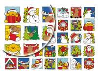 Beloningsstickers Vrolijke Kerstfig 370, 35 motieven, 700 stuks