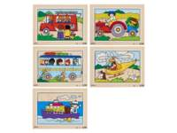 Puzzelserie transport 1, 12 stukjes per puzzel