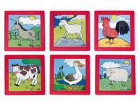 Puzzelserie boerderijdieren, kunststof