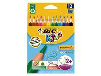Kleurpotloden BIC Kids Evolution Triangle, etui 12 stuks ass.