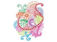 Patroonplaten Henna-designs