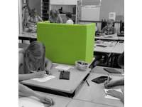Concentratiescherm Ecostiek, tafelmodel, opklapbaar groen