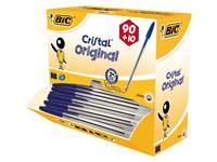 Balpen BIC Cristal blauw Voordeelpak 90 + 10 gratis