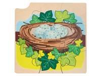 Groeipuzzel merel 4-lagen, 36 stukjes