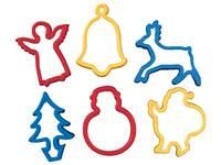 Kleistansen kerst 9 x 6 cm 6 stuks ass.
