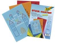 Borduurkarton 17,5 x 24,5 cm 10 kleuren, 40 vel bedrukt
