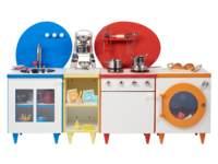 Rolf More - Keuken wit met kleuraccenten, bestaande uit 4 onderdelen
