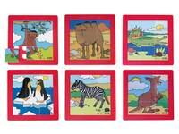 Puzzelserie dierentuindieren, kunststof