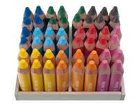 Kleurpotloden 3 kantig Super Jumbo 8 kl. 48 stuks in houten kistje