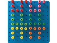 Reuze insteekbord 40x40 cm met 100 insteekparels en potten