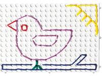 Veterborden wit rechthoekig (set van 4 stuks, 4 pennen en 20 veters)