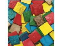 Kokosnoot mozaiek assorti 2 x 2 cm, 150 gram