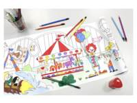 Tekenrol kleine kunstenaar zelfklevend 30 cm x 4m