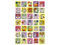 Beloningsstickers Paashazen 72 35 motieven, 700 stickers