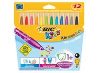 Viltstiften BIC Kid Couleur baby assorti, etui 12 stuks