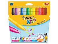 Viltstiften BIC Kids visacolor XL assorti, 12 stuks