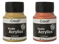 Acrylverf ass. set 5 x 120 ml geel, rood, blauw, wit, zwart