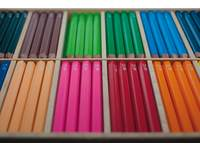 Kleurpotloden 6 kantig Jumbo 12 kl.144 stuks in houten kist