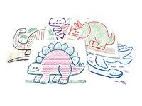 Patroonplaten Junior dinosaurus, 6 stuks