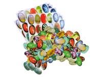 Collagepapier grote edelstenen, 400 stuks, 20 designs