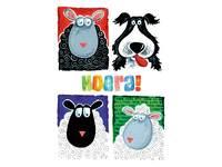 Miniposters Fantasie dieren 1027 4 motieven, 20 stuks