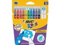 Viltstiften BIC Kids magic assorti, 12 stuks