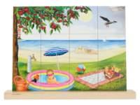 Puzzel verticaal zomer, 12 stukjes