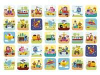 Beloningstickers 469 Dierenvervoer, 35 motieven, 700 stuks